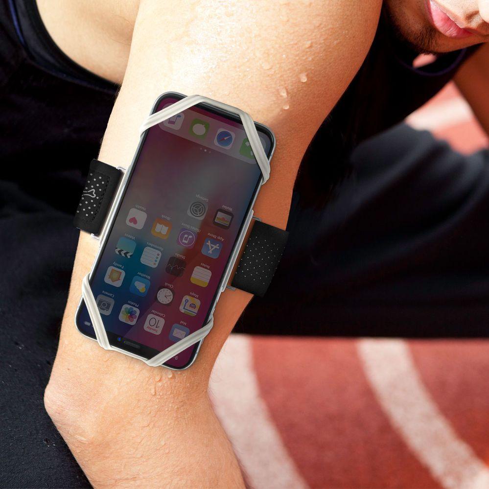 Bone | 跑步手機綁 通用運動臂套(手腕) - 灰色(L)