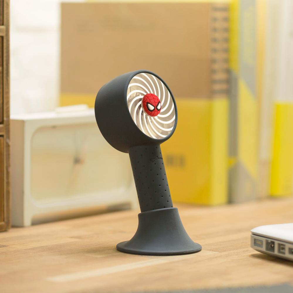 Bone | 手持 頸掛 桌立 USB 三用風扇 - 蜘蛛人