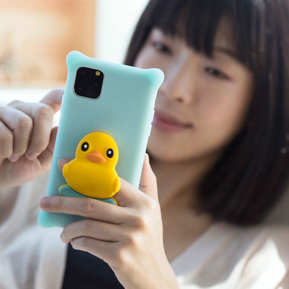 Bone|iPhone 11 Pro 公仔泡泡保護套 - 派提鴨