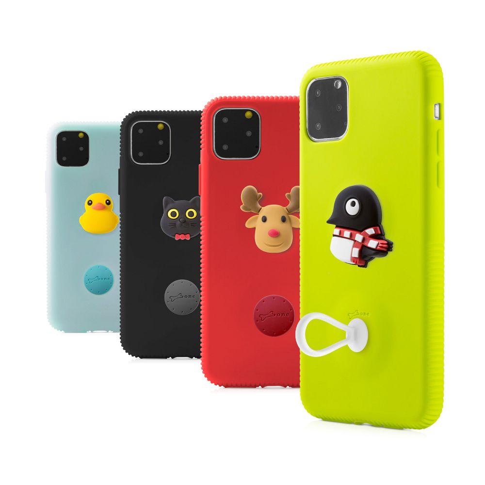 Bone|iPhone 11 Pro 逗扣保護套(贈手指Q環) - 派提鴨