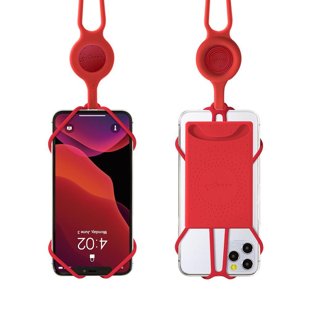 Bone│頸掛手機綁二代卡套版 - 紅色
