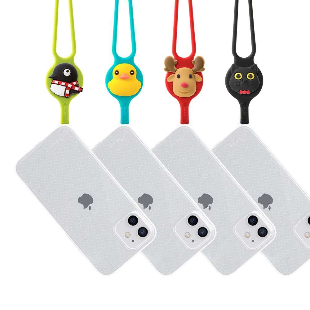 Bone|頸掛 iPhone 12 mini 透明手機殼