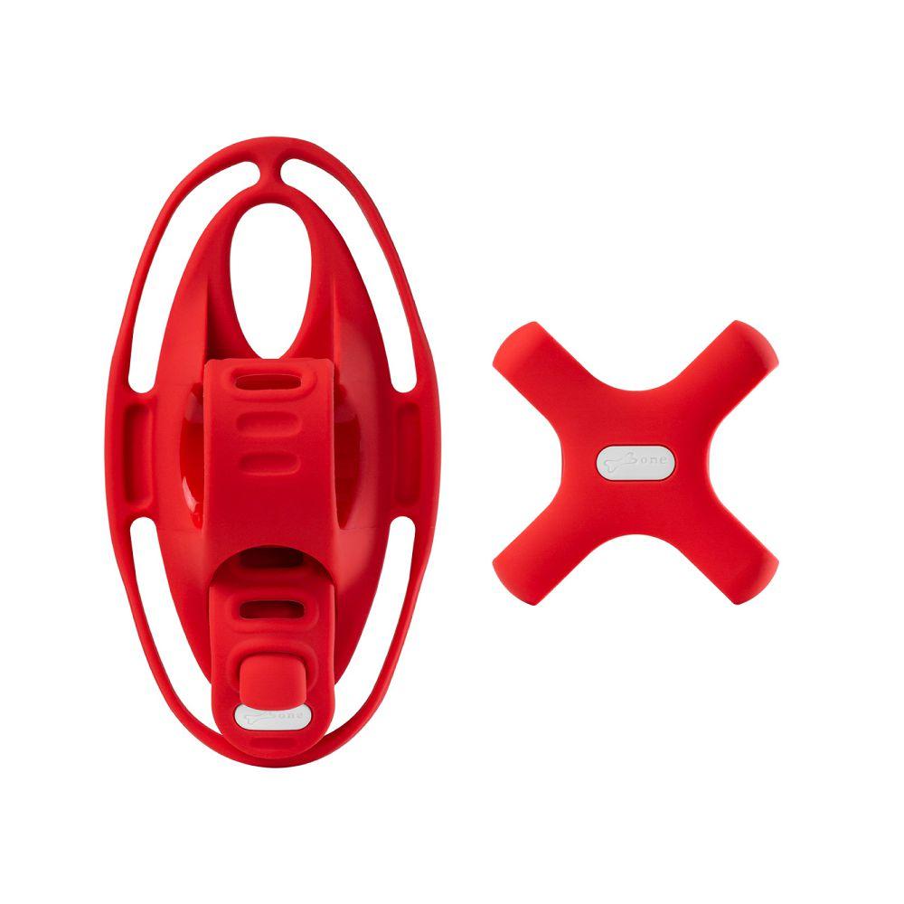 Bone|單車手機綁第四代 + 電源綁 (套組) - 紅色