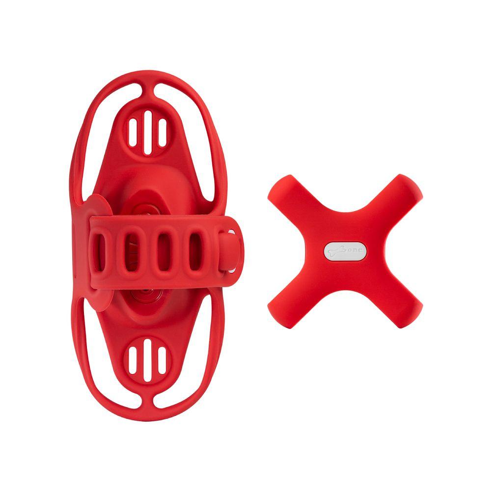 Bone|單車手機龍頭綁第四代 + 電源綁 (套組) - 紅色