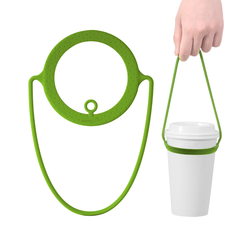 Bone Cup Tie 環保矽膠飲料杯綁 - 草綠色
