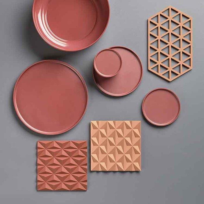 ZONE|幾何系列TRIVETS鍋墊/隔熱墊(冷調灰)