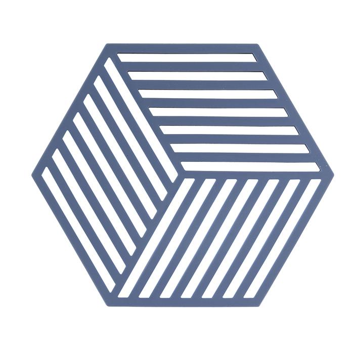 ZONE 菱型系列TRIVETS鍋墊/隔熱墊(條紋牛仔藍)