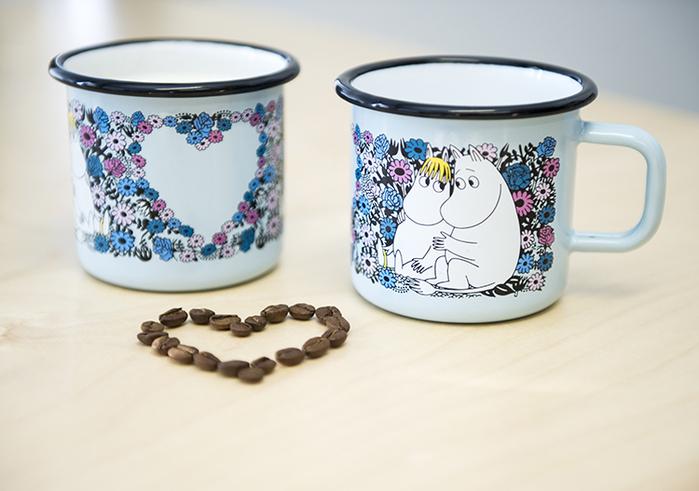 Muurla|嚕嚕米系列 - 甜心愛戀馬克杯(粉藍)370cc