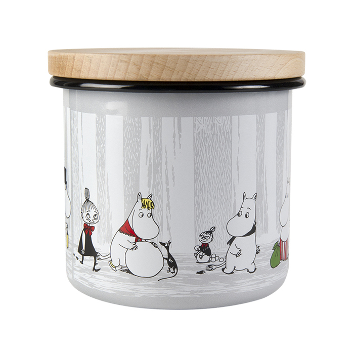 Muurla|嚕嚕米琺瑯儲物罐1.3L