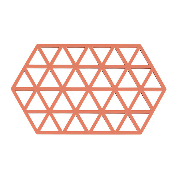 Zone Denmark|幾何格紋TRIVETS隔熱墊(蜜桃橘)