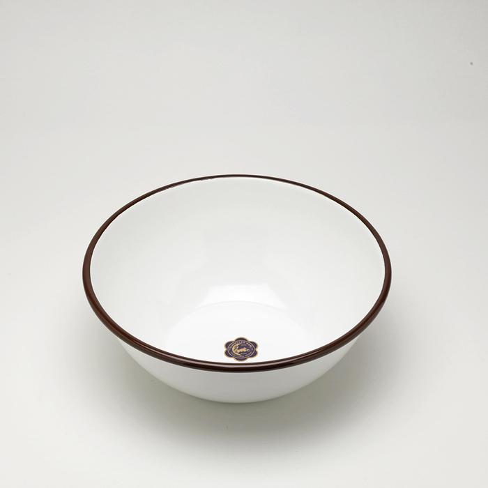 月兔印|琺瑯調理盆(20cm) -咖啡邊