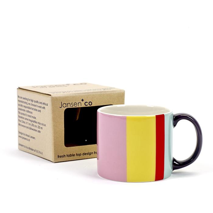 (複製)SERAX|Jansen+co直條紋馬克杯-黃黑