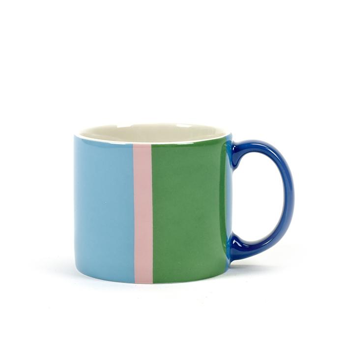 SERAX|Jansen+co橫條紋馬克杯-藍綠