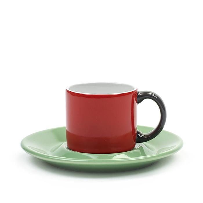 SERAX|Jansen+co ESPRESSO杯盤組-紅綠