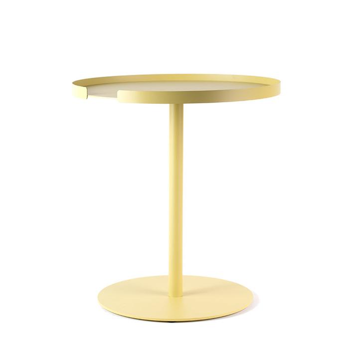 (複製)Design Bite|圓形邊桌-珊瑚粉