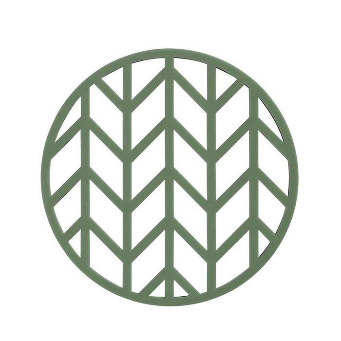 Zone Denmark|圓形樹葉隔熱墊(深綠)