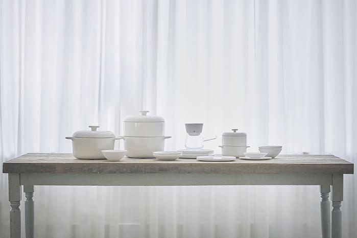 JIA Inc.|手沖咖啡 濾杯+杯座組合(蛋糕杯型)─白色