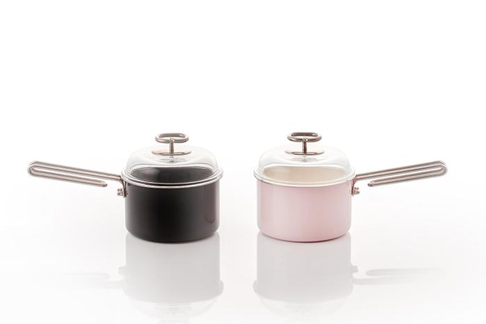 JIA Inc.|虹彩鋼 不鏽鋼琺瑯單柄鍋16cm ─ 黑色