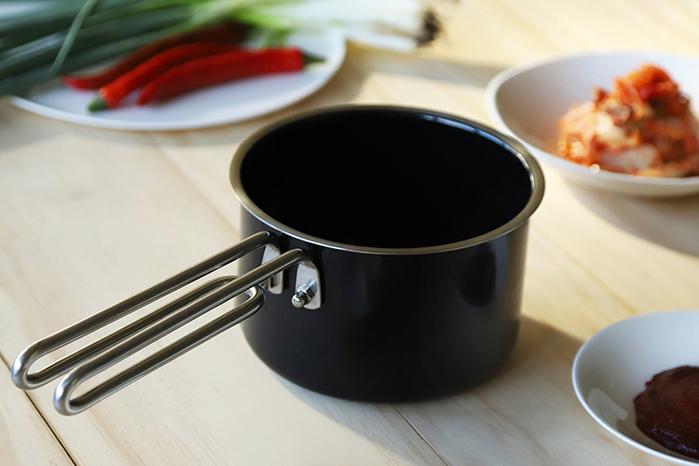 JIA Inc.|虹彩鋼 不鏽鋼琺瑯牛奶鍋14cm ─ 黑色
