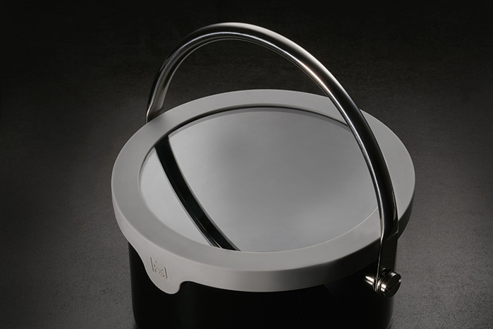 JIA Inc.|虹彩鋼 不鏽鋼琺瑯提鍋18cm ─ 黑色
