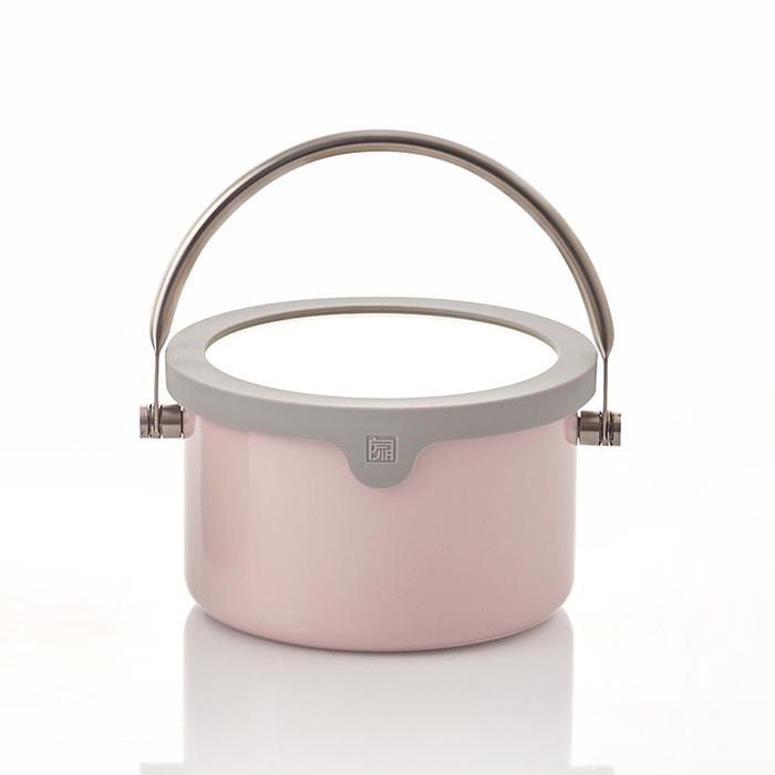 JIA Inc.|虹彩鋼 不鏽鋼琺瑯提鍋18cm ─ 粉紅色