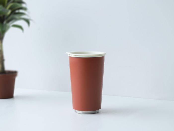 JIA Inc.|虹彩鋼 雙層隨行杯350ml─ 朱紅色