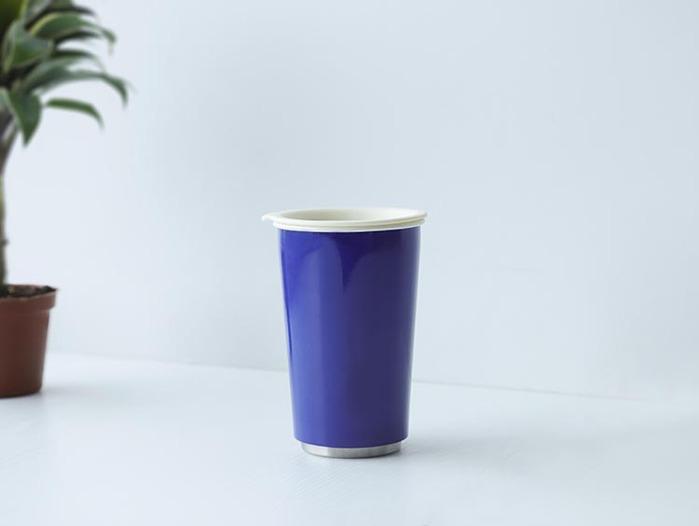 JIA Inc.|虹彩鋼 雙層隨行杯350ml─ 藍色