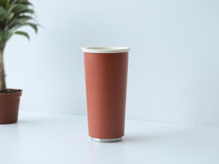 JIA Inc.|虹彩鋼 雙層隨行杯470ml─ 朱紅色