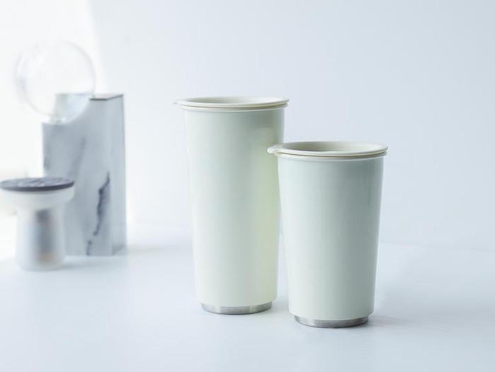 JIA Inc.|虹彩鋼 雙層隨行杯470ml─ 白色