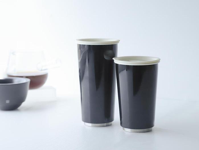 JIA Inc.|虹彩鋼 雙層隨行杯470ml─ 黑色