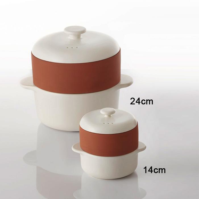 JIA Inc.|饗食版 蒸鍋蒸籠14cm (Q版白色陶鍋)
