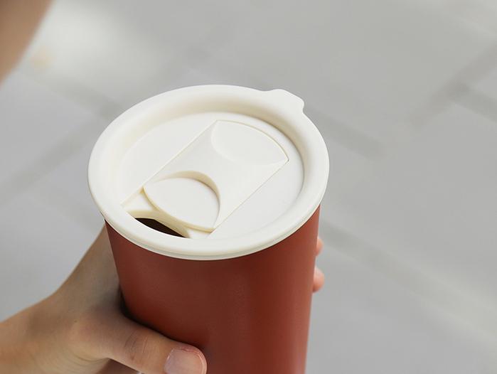 JIA Inc.|虹彩鋼 雙層馬克杯350ml─ 粉紅色