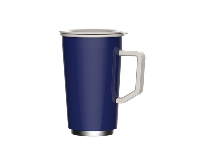 JIA 家|虹彩鋼 琺瑯雙層馬克杯350ml─藍色