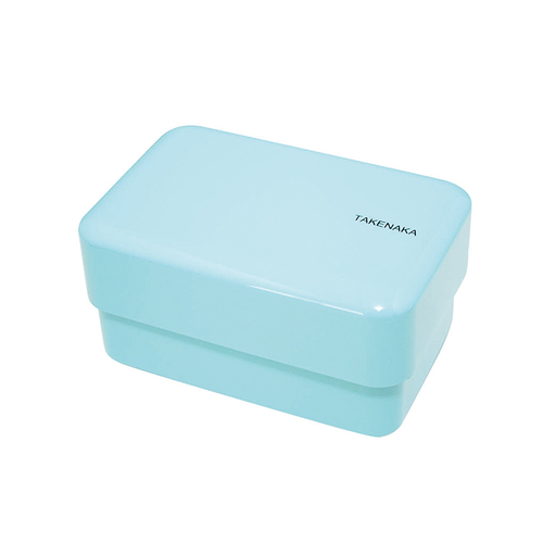 TAKENAKA BENTO BOX|粉彩雙層便當盒(附繩)-淡藍色