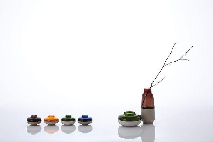 JIA Inc.|燈華花器-25cm(茶色)