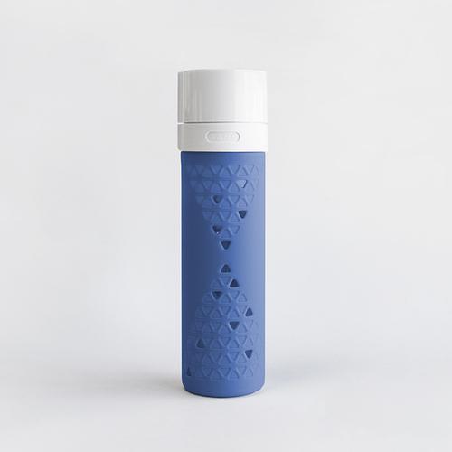 SANS|真空果汁玻璃瓶480ml (藍莓藍)