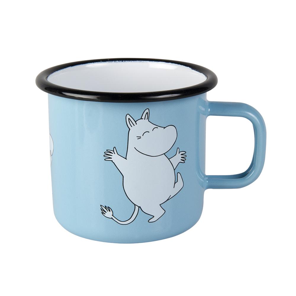Muurla 嚕嚕米系列 - Moomin琺瑯馬克杯(淺藍)370cc
