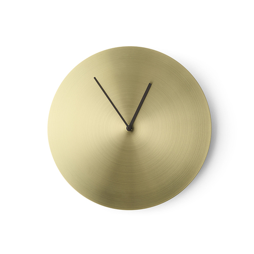 MENU|金屬紋極簡時鐘(銅)