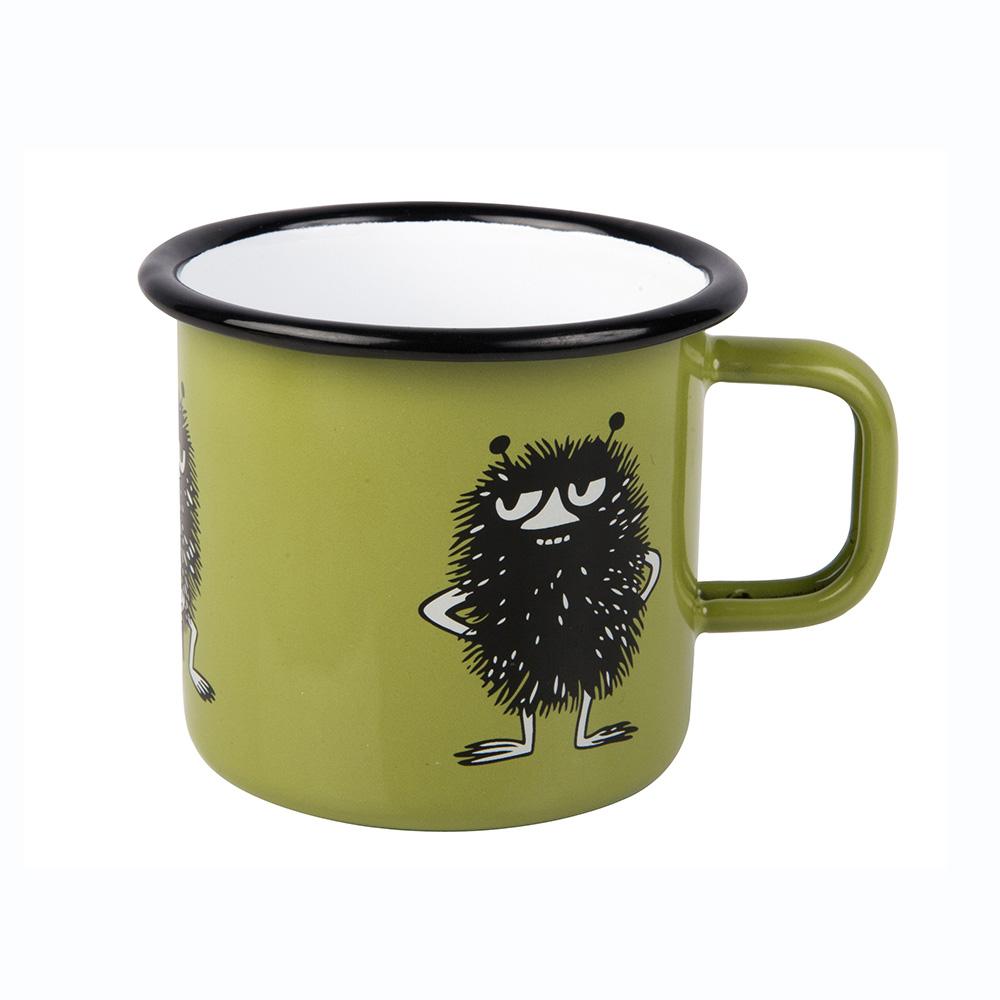 Muurla 嚕嚕米系列 - 小偷阿丁琺瑯馬克杯(綠)370cc