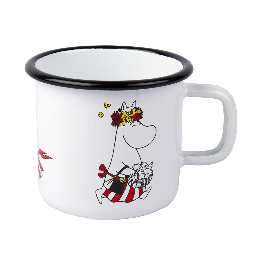 Muurla 嚕嚕米系列 - 嚕嚕米媽媽琺瑯馬克杯(白)370cc