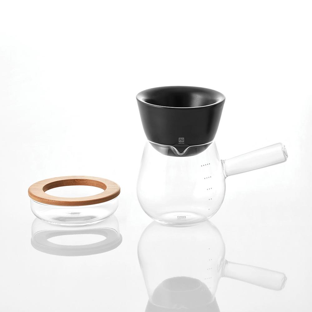 JIA Inc. 手沖咖啡 全套禮盒組(V型濾杯)─黑色