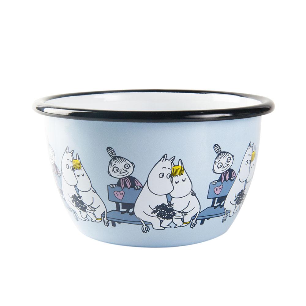 Muurla|嚕嚕咪戀愛 - 琺瑯碗(粉藍)600cc