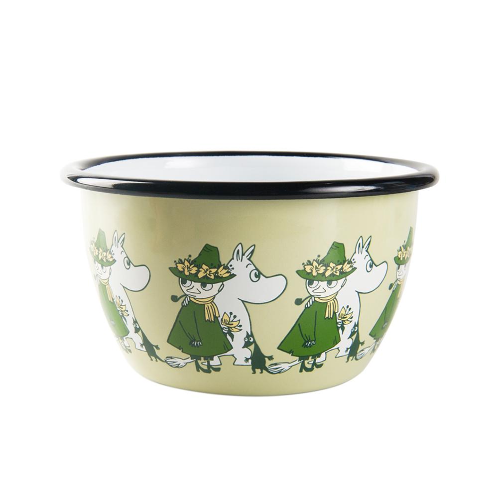 Muurla|阿金復古 - 琺瑯碗(綠)600cc