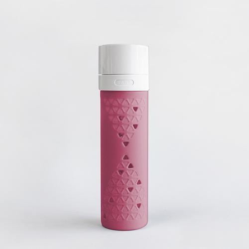 SANS|真空果汁玻璃瓶480ml (桃紅)
