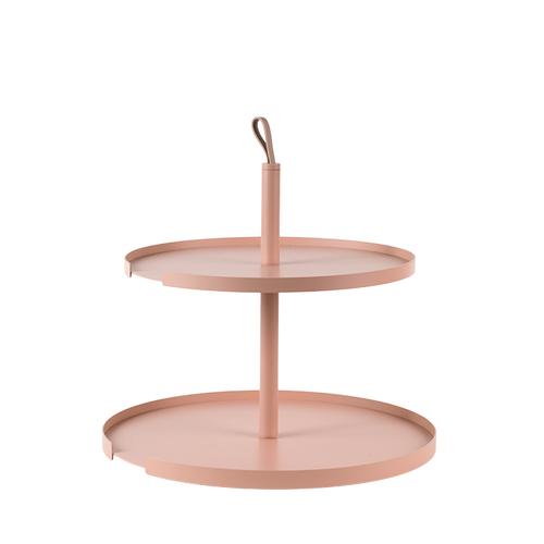 Design Bite 雙層蛋糕架-珊瑚粉