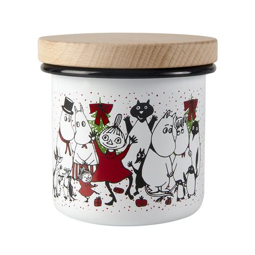 Muurla|嚕嚕米系列 - 歡樂派對琺瑯儲物罐370ml