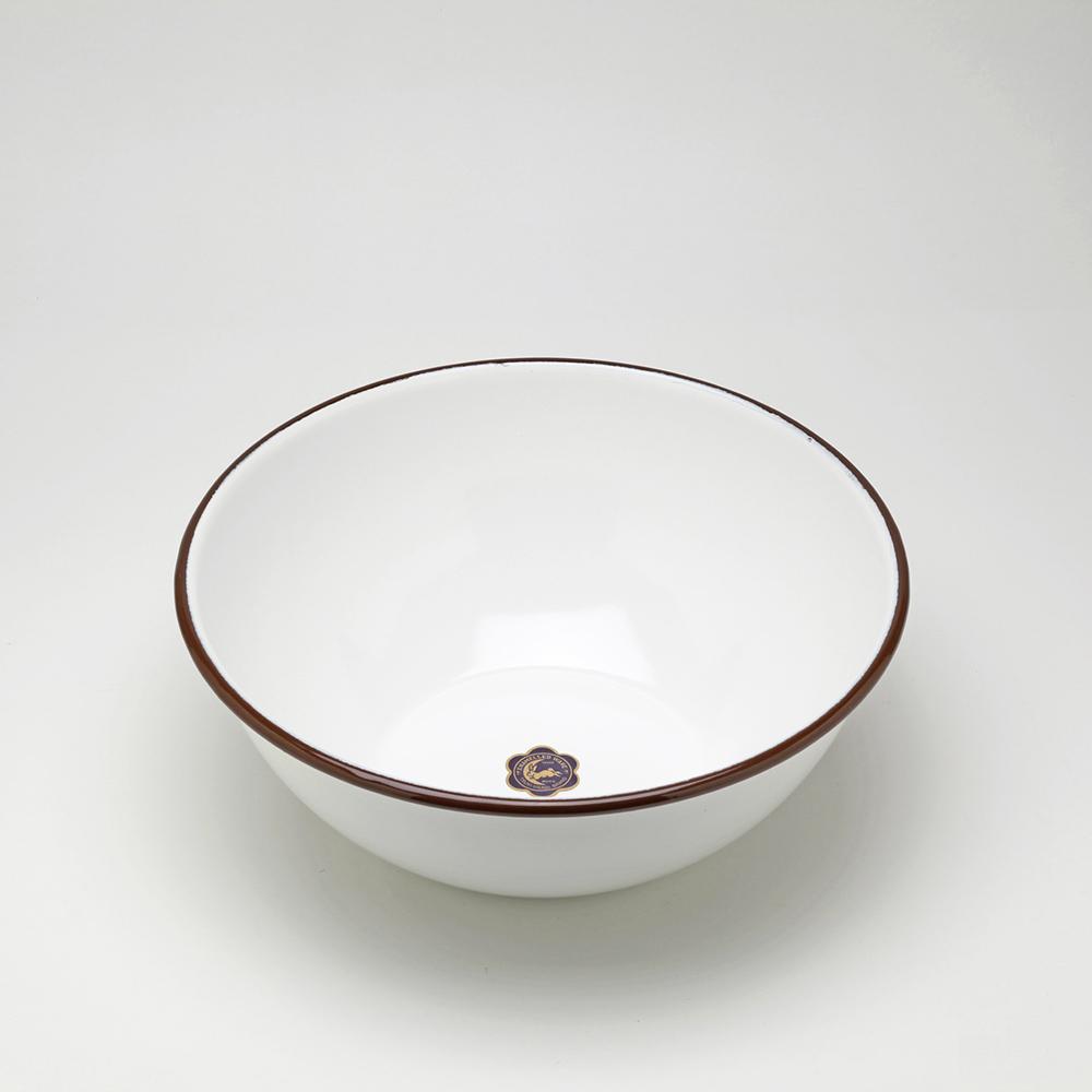 月兔印|琺瑯調理盆(22cm) -咖啡邊