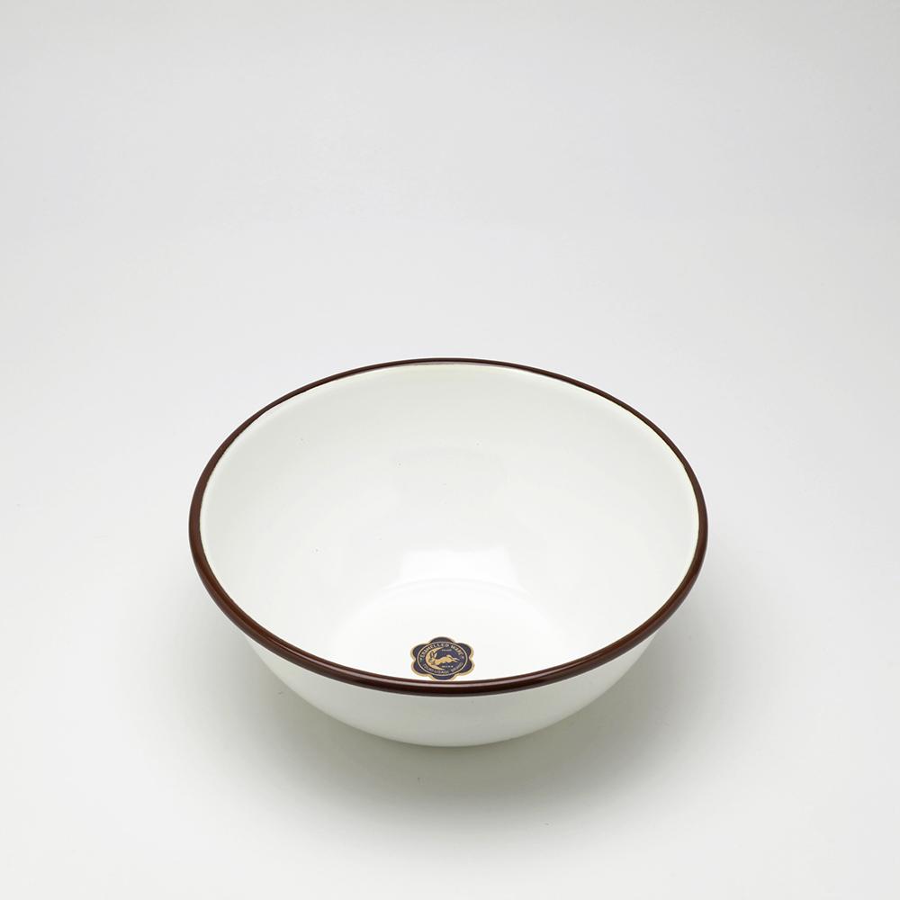月兔印 琺瑯調理盆(18cm) -咖啡邊