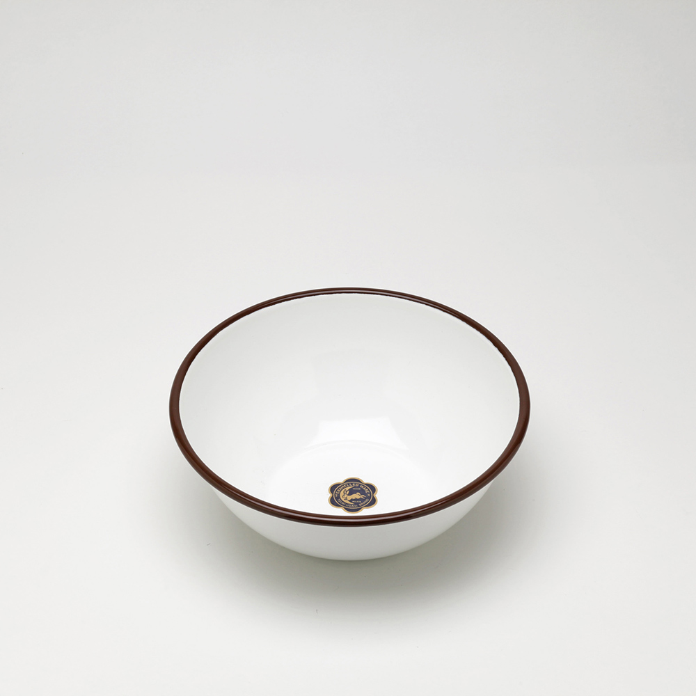 月兔印|琺瑯調理盆(16cm) -咖啡邊