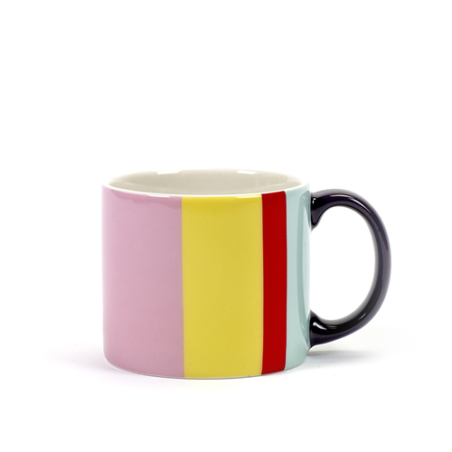 SERAX|Jansen+co直條紋馬克杯-黃粉